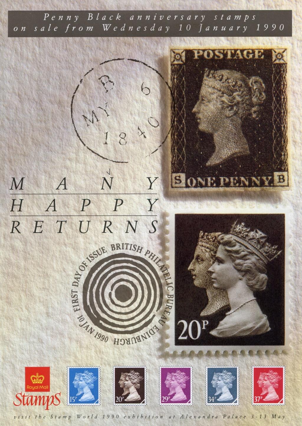 Großbritannien - 150 Jahre Briefmarken Black_13