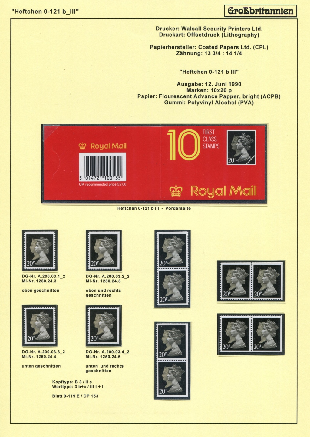 Großbritannien - 150 Jahre Briefmarken Black_59