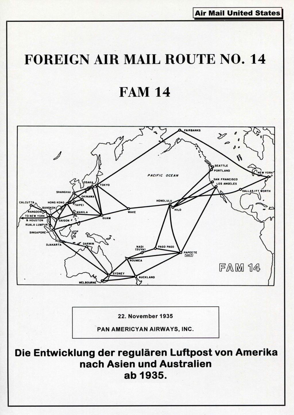 Sammlung FAM 14 (FOREIGN AIR MAIL ROUTE No 14) - Teil 1 Fam_1419