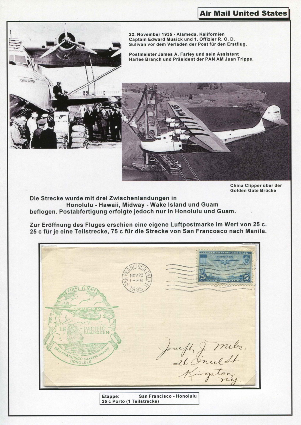 Sammlung FAM 14 (FOREIGN AIR MAIL ROUTE No 14) - Teil 1 Fam_1425