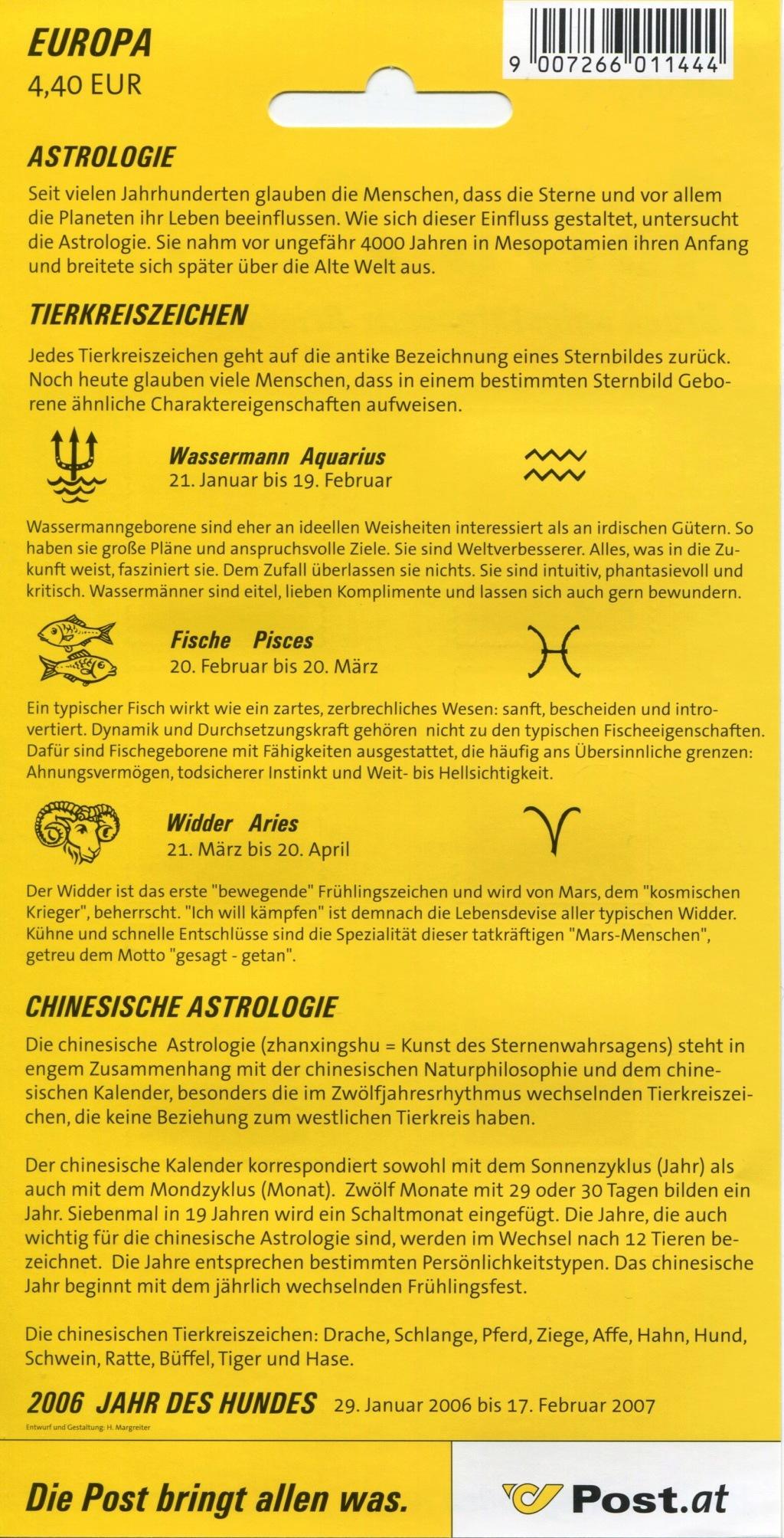 Freimarken Tierkreiszeichen / Chinesisches Neujahr Forum_13