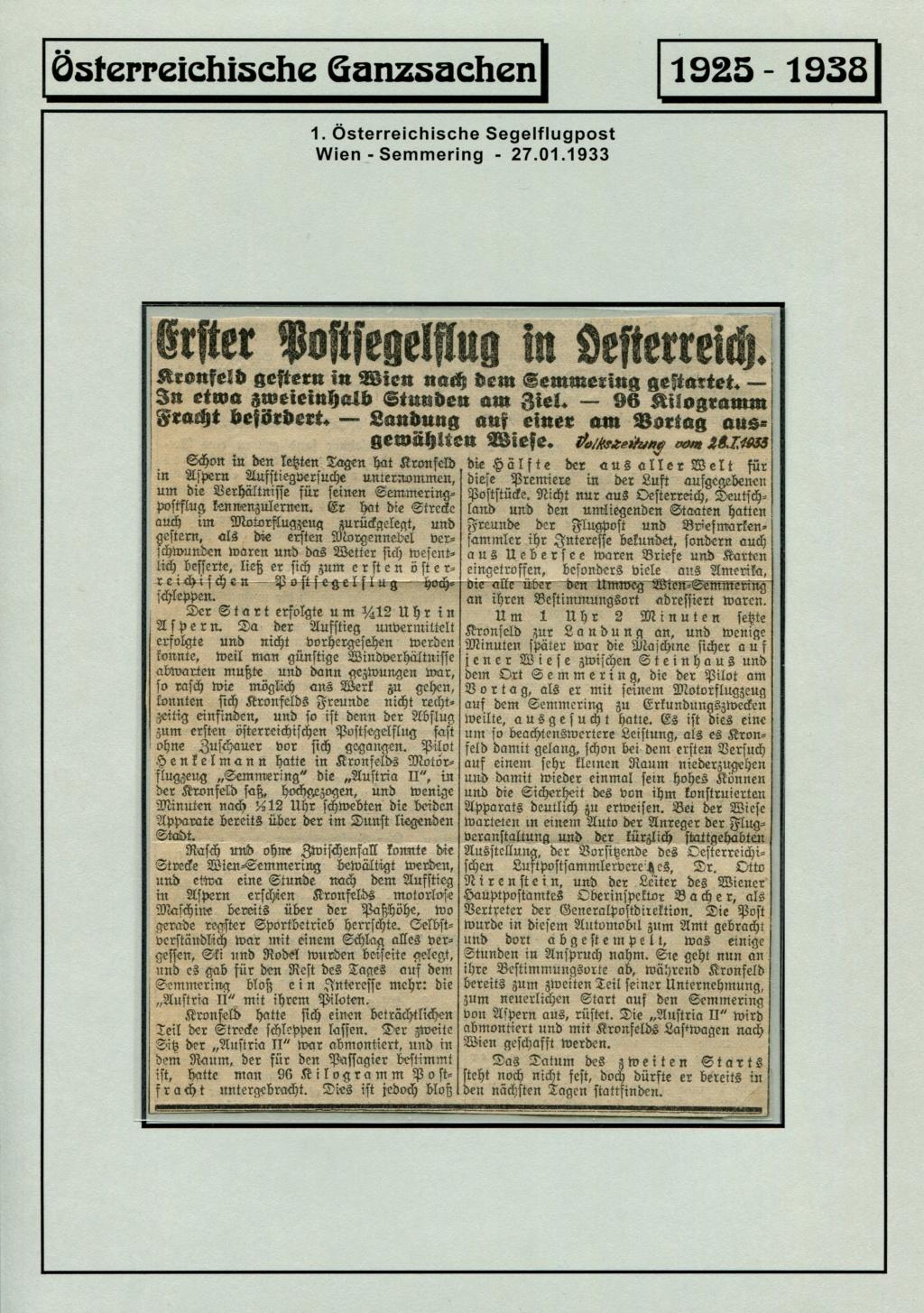 Ganzsachen - Segelflug Robert Kronfeld 1933 Kr_00012