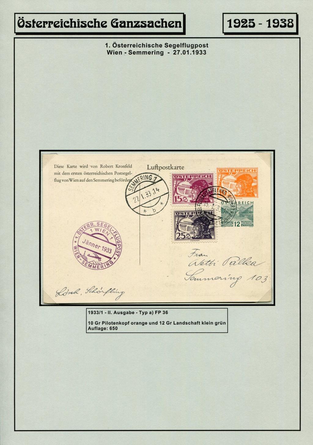 Ganzsachen - Segelflug Robert Kronfeld 1933 Kr_00018