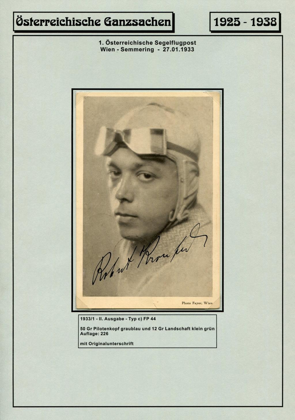 Ganzsachen - Segelflug Robert Kronfeld 1933 Kr_00113
