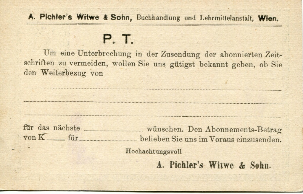 Privatganzsachen von A. Pichlers Witwe & Sohn - Seite 2 Pcihle15