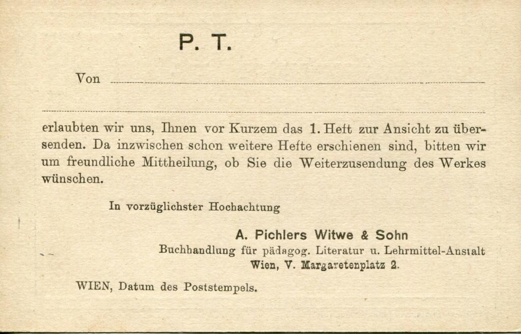 Privatganzsachen von A. Pichlers Witwe & Sohn - Seite 2 Pcihle17
