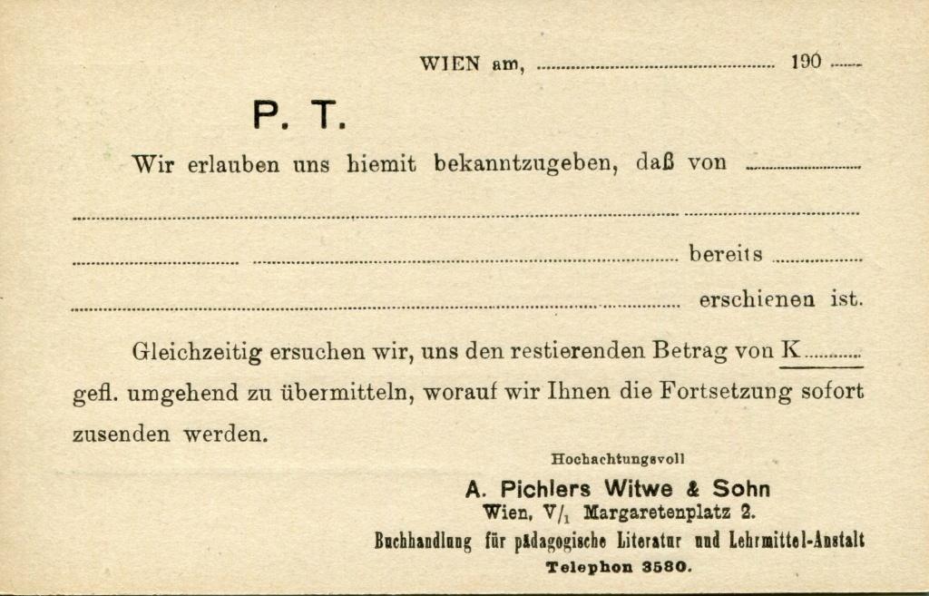 Privatganzsachen von A. Pichlers Witwe & Sohn - Seite 2 Pcihle24