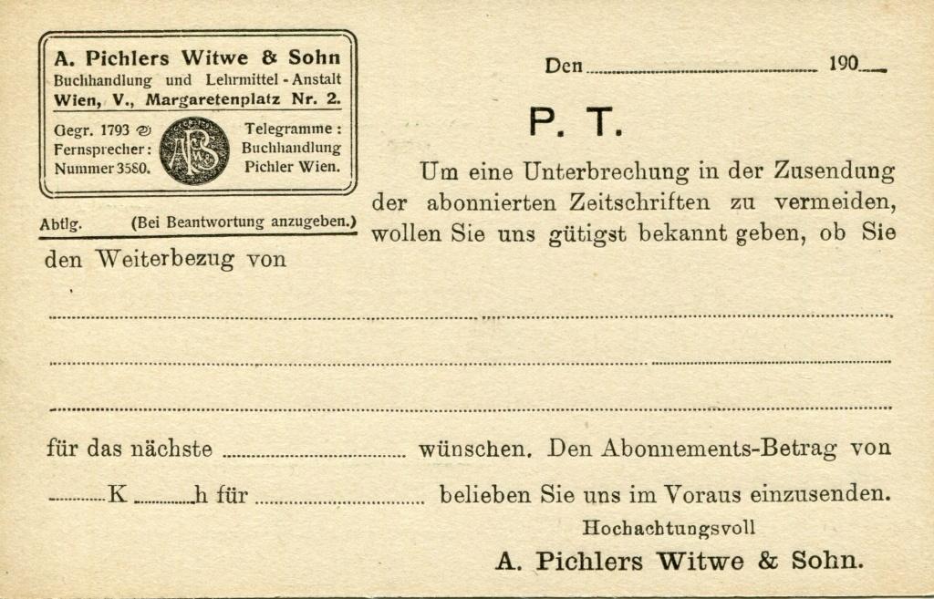 Privatganzsachen von A. Pichlers Witwe & Sohn - Seite 2 Pcihle26