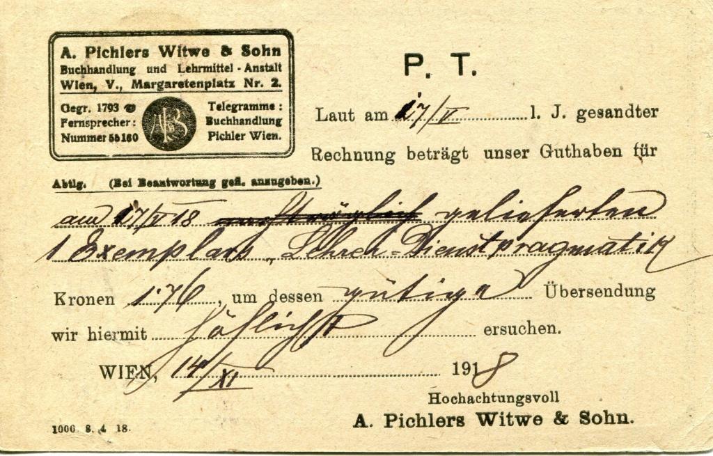 Privatganzsachen von A. Pichlers Witwe & Sohn - Seite 2 Pcihle36