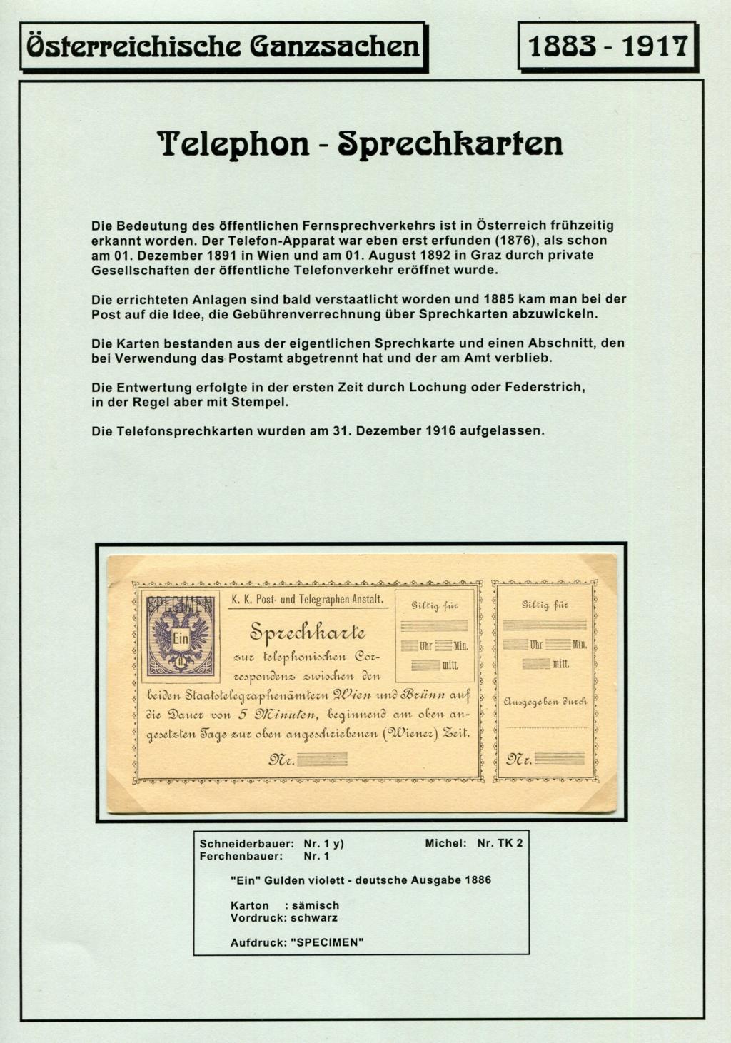 Österreichische Telephon-Sprechkarten - 1883 - 1917 Tel_ka10