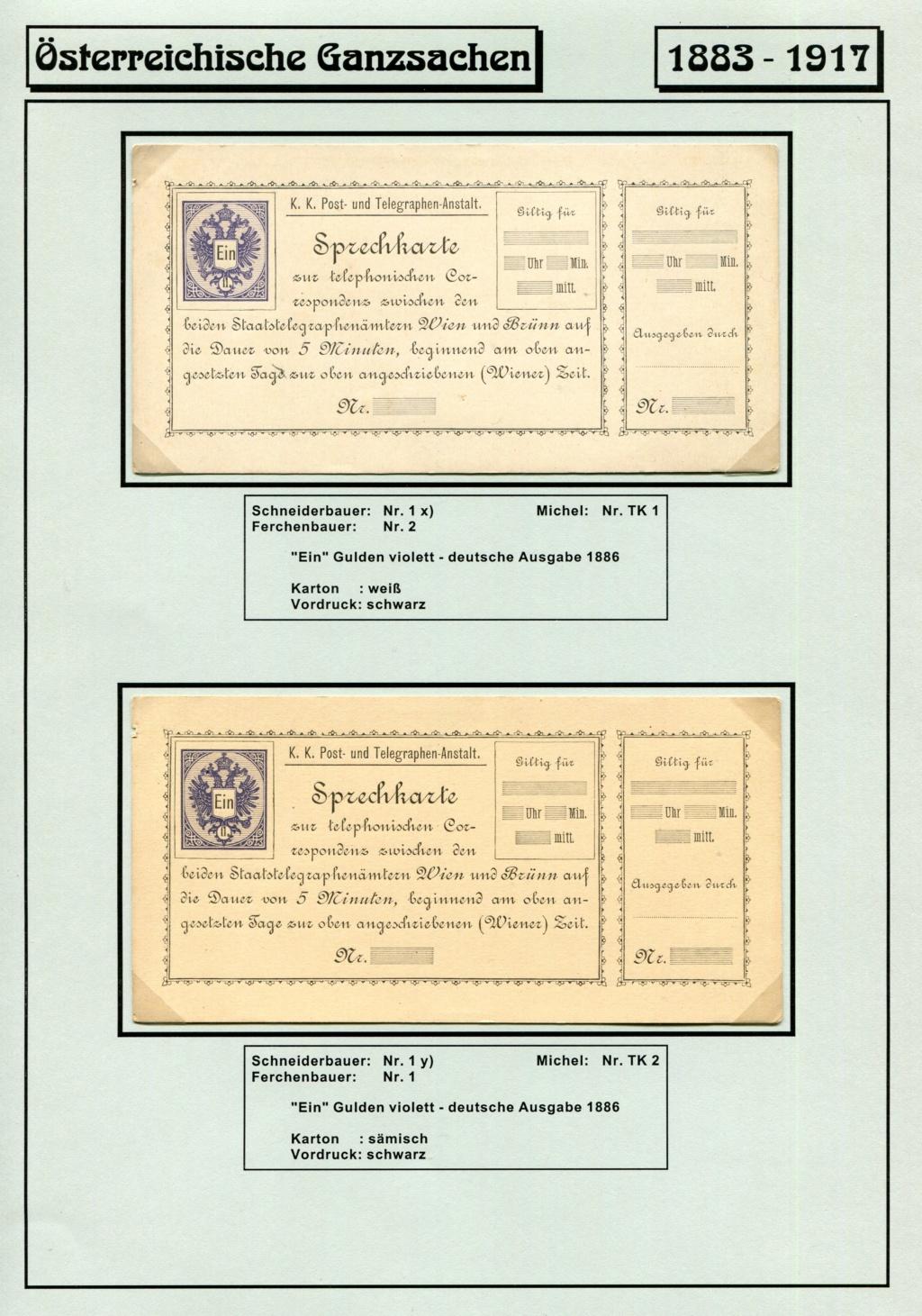 Österreichische Telephon-Sprechkarten - 1883 - 1917 Tel_ka11