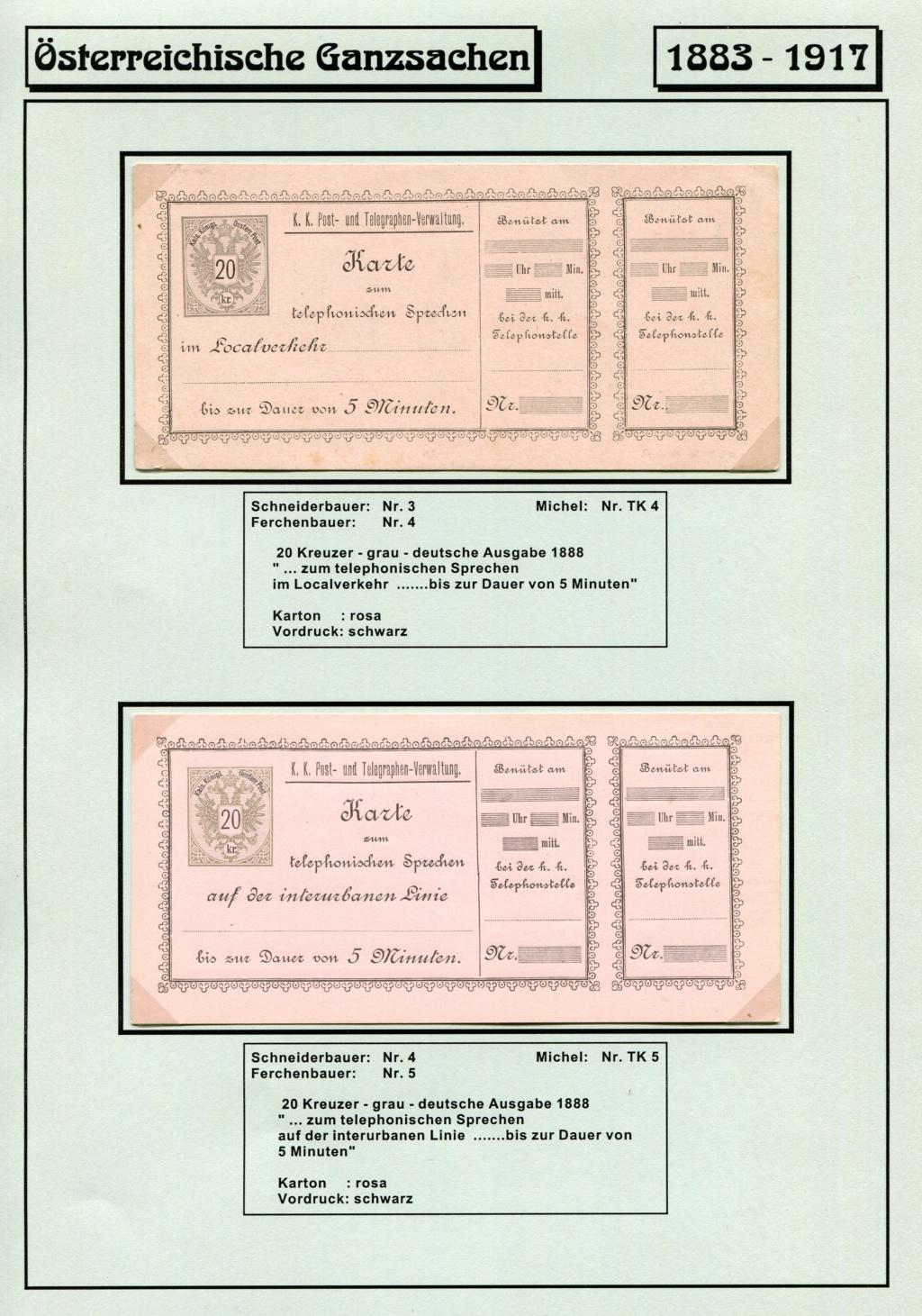 Österreichische Telephon-Sprechkarten - 1883 - 1917 Tel_ka12