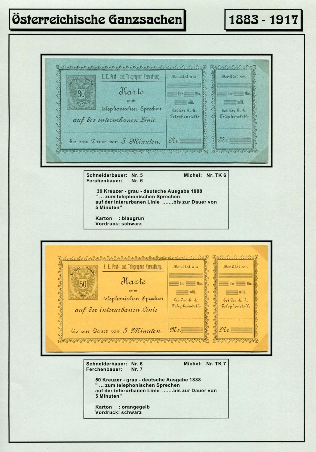 Österreichische Telephon-Sprechkarten - 1883 - 1917 Tel_ka13