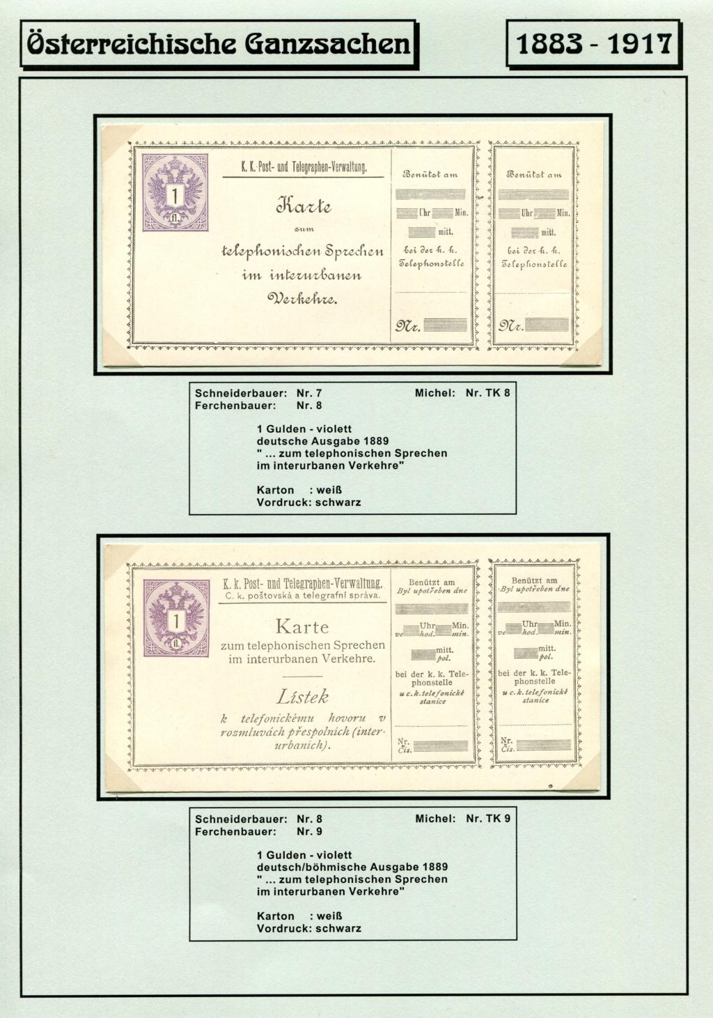 Österreichische Telephon-Sprechkarten - 1883 - 1917 Tel_ka14