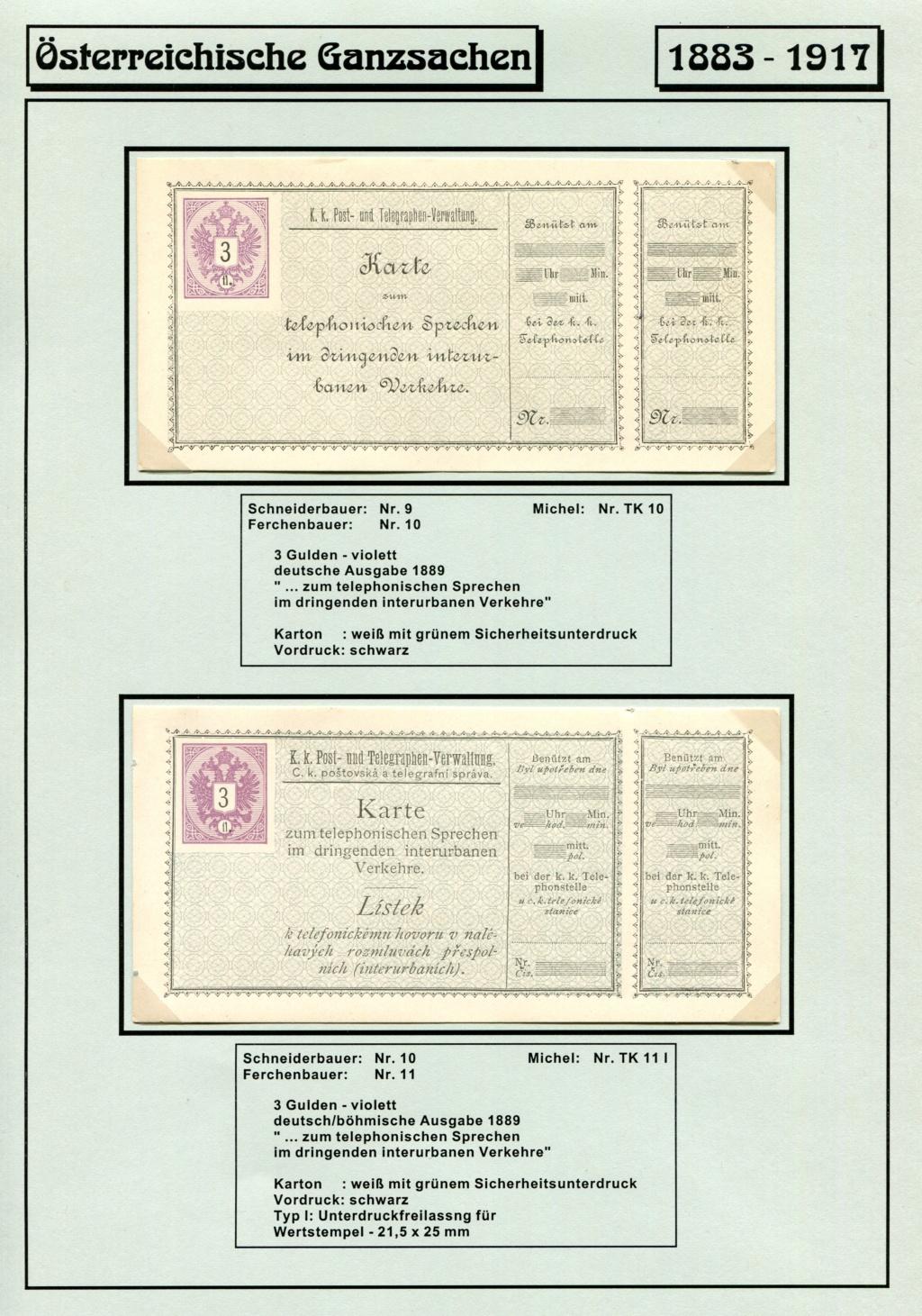 Österreichische Telephon-Sprechkarten - 1883 - 1917 Tel_ka15