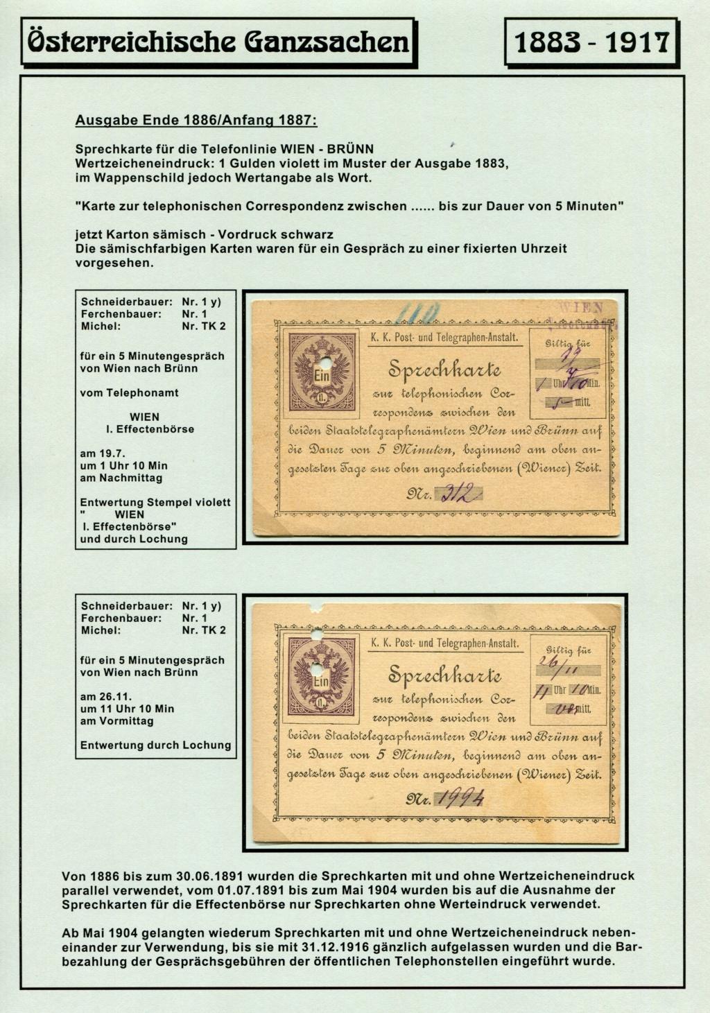 Österreichische Telephon-Sprechkarten - 1883 - 1917 Tel_ka19