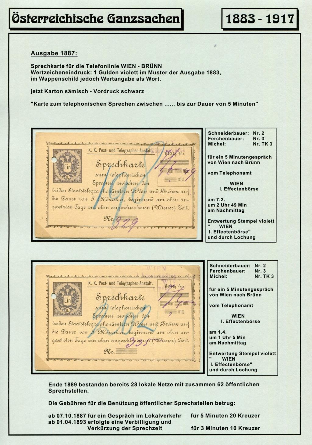 Österreichische Telephon-Sprechkarten - 1883 - 1917 Tel_ka20