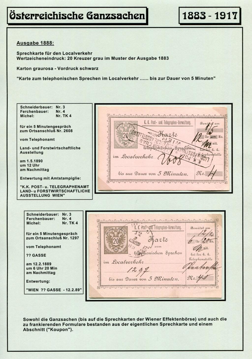 Österreichische Telephon-Sprechkarten - 1883 - 1917 Tel_ka21