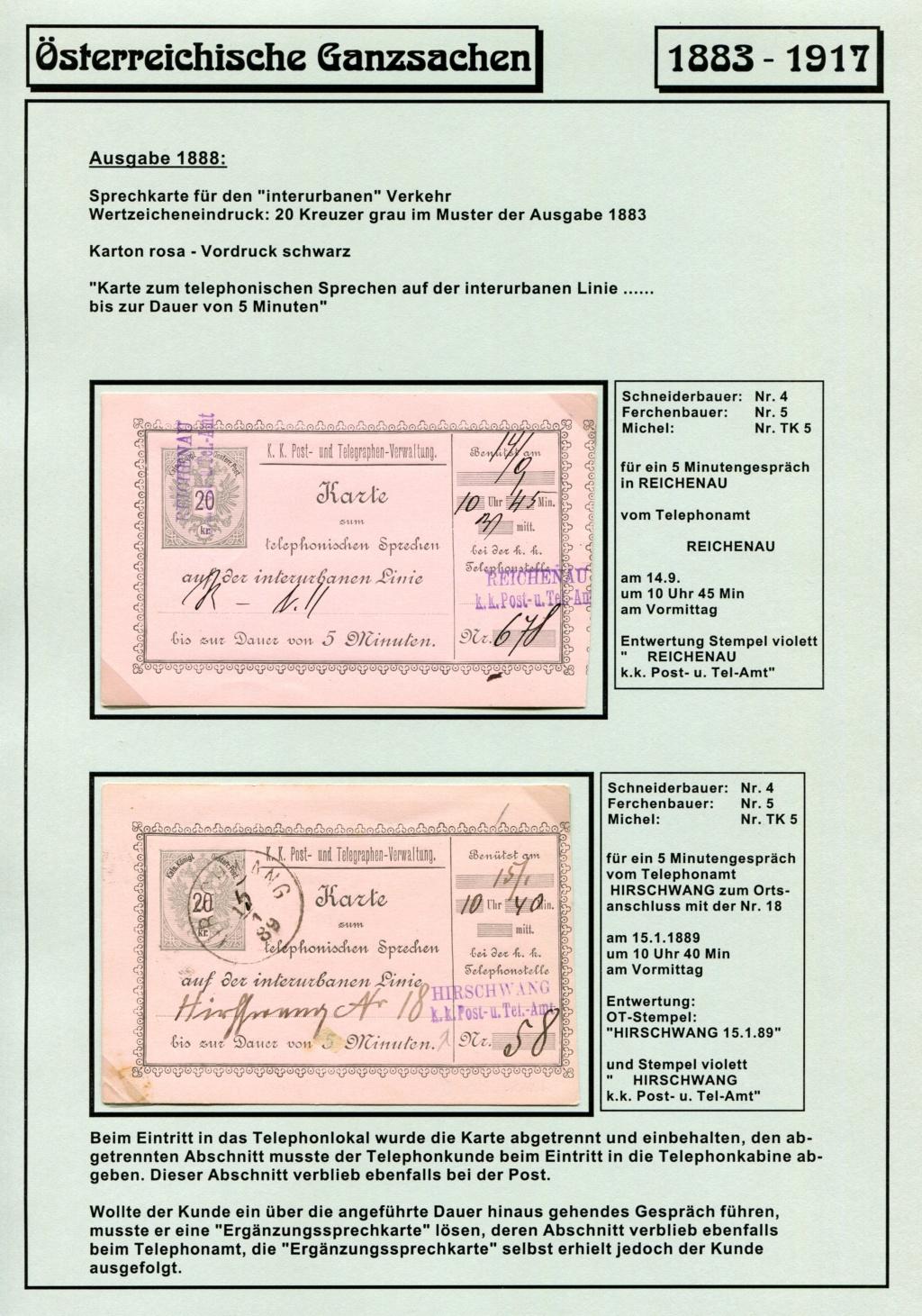 Österreichische Telephon-Sprechkarten - 1883 - 1917 Tel_ka22