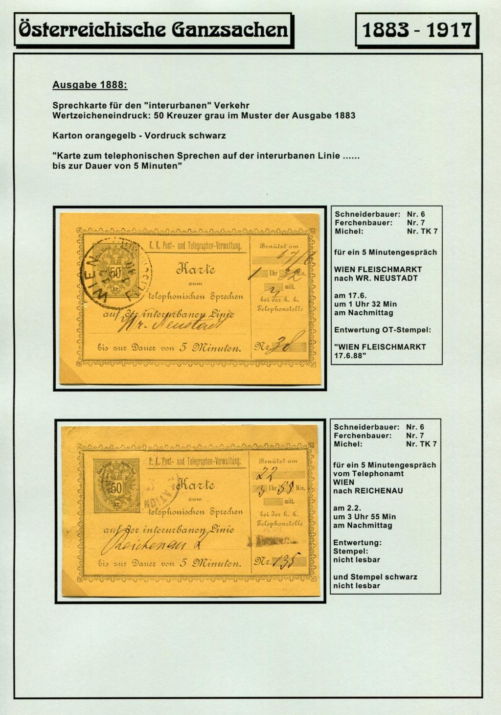 Österreichische Telephon-Sprechkarten - 1883 - 1917 Tel_ka24