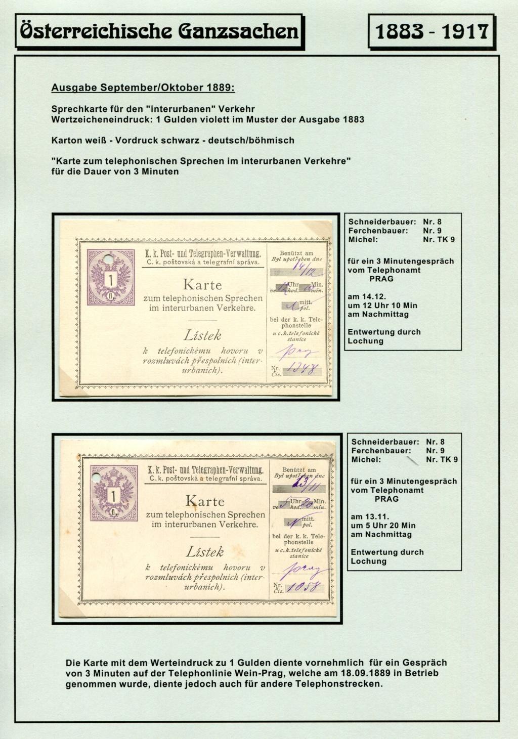 Österreichische Telephon-Sprechkarten - 1883 - 1917 Tel_ka27