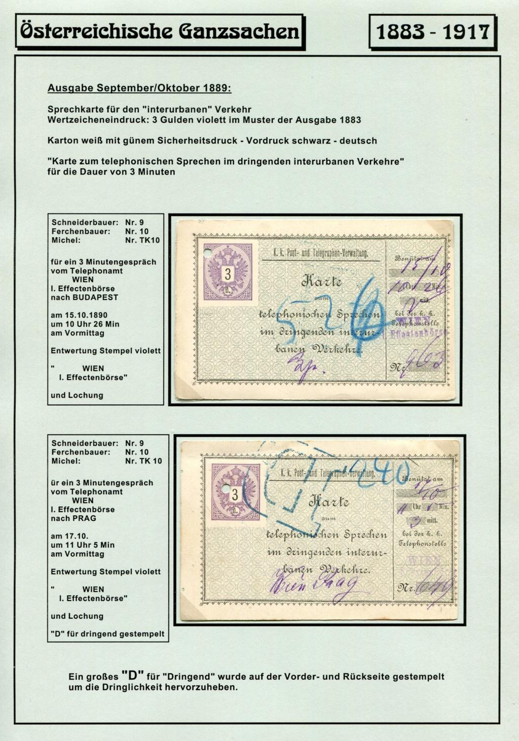 Österreichische Telephon-Sprechkarten - 1883 - 1917 Tel_ka28