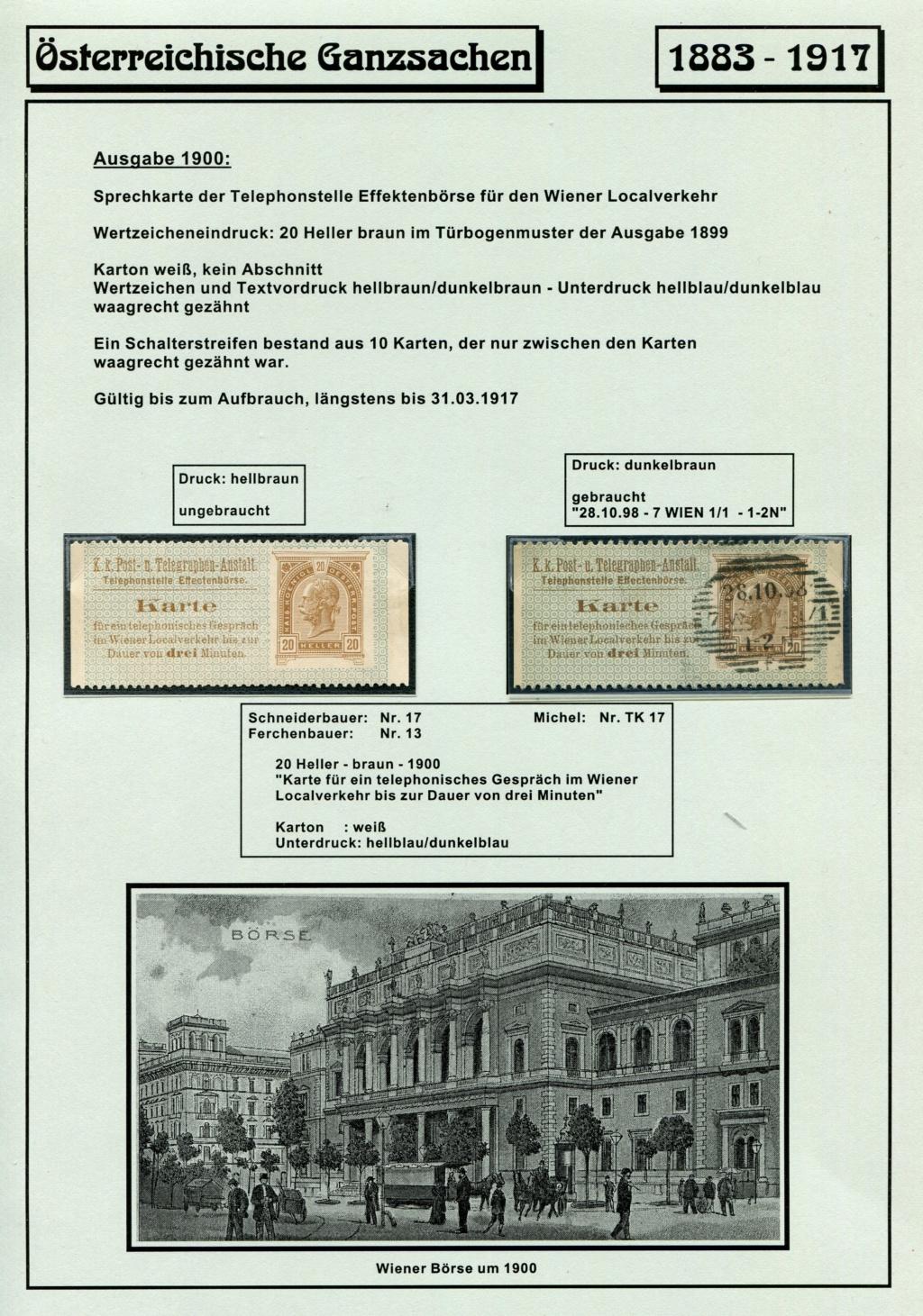 Österreichische Telephon-Sprechkarten - 1883 - 1917 Tel_ka30