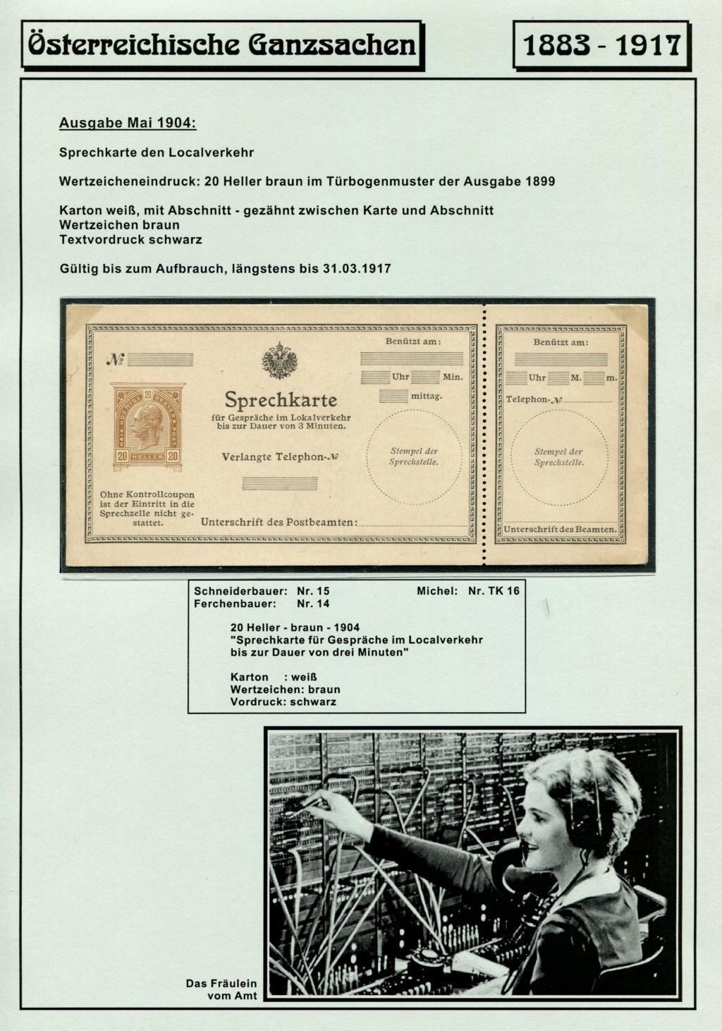 Österreichische Telephon-Sprechkarten - 1883 - 1917 Tel_ka31