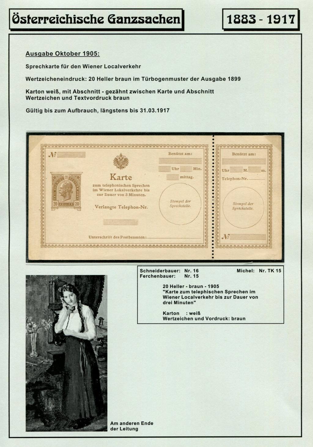 Österreichische Telephon-Sprechkarten - 1883 - 1917 Tel_ka32