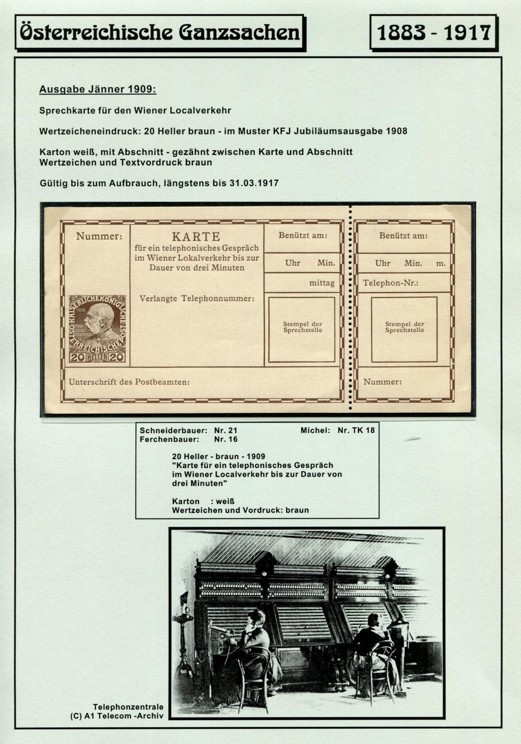 Österreichische Telephon-Sprechkarten - 1883 - 1917 Tel_ka33
