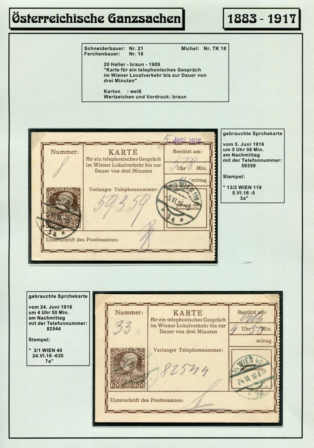 Österreichische Telephon-Sprechkarten - 1883 - 1917 Tel_ka34