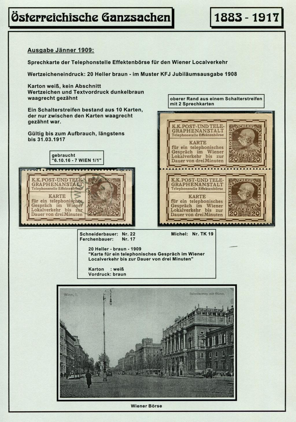 Österreichische Telephon-Sprechkarten - 1883 - 1917 Tel_ka35