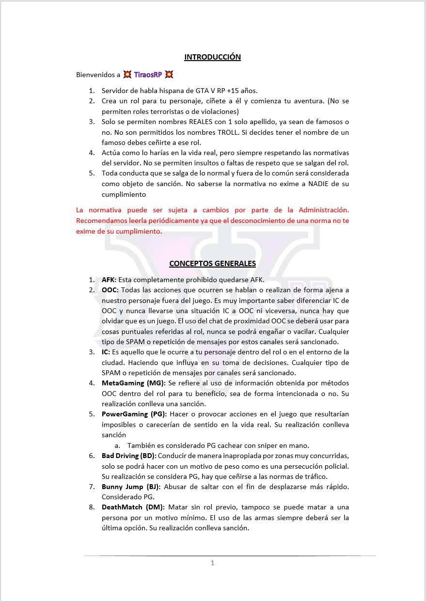 Normativa General Normat44