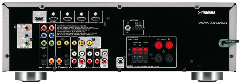 transformer une sortie ampli stéréo en sortie ligne. Yamaha10