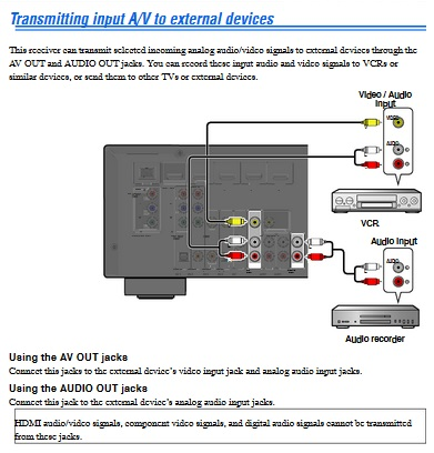 transformer une sortie ampli stéréo en sortie ligne. Yamaha11