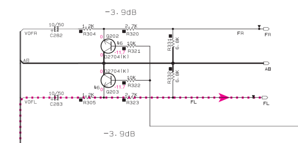 transformer une sortie ampli stéréo en sortie ligne. Yamaha12