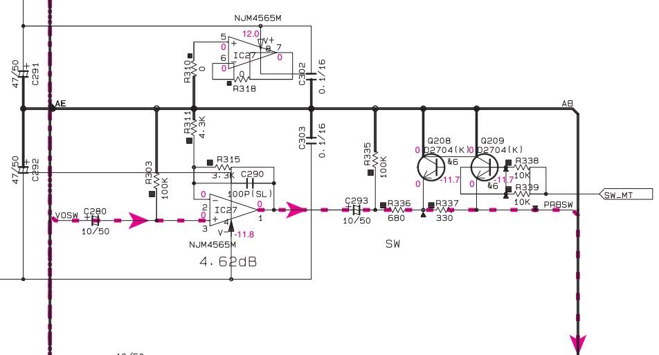 transformer une sortie ampli stéréo en sortie ligne. Yamaha13