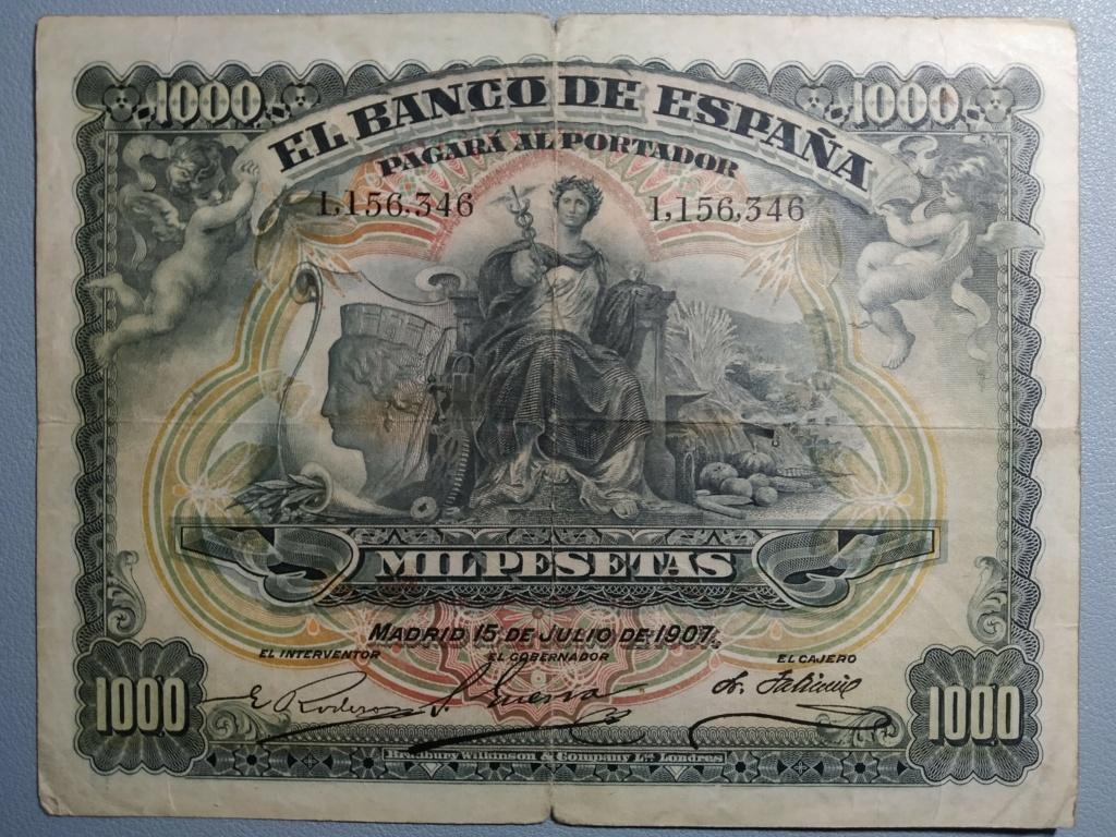 1000 Pesetas 1907 resellado Estado Español (Burgos) - Restaurado (Antes/después) Princi10