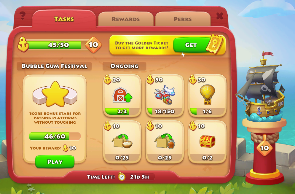Buccaneer - town level 23 - cream and syrup tasks Town_l10