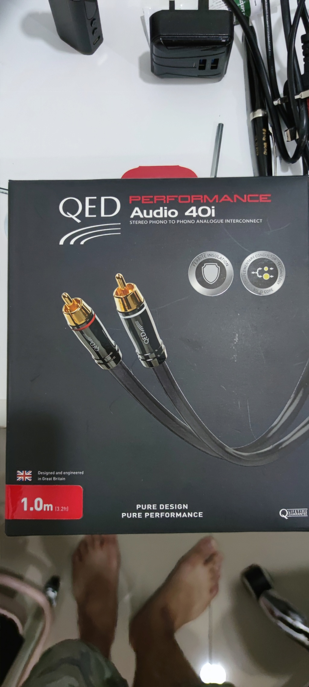 QED performance audio 40i interconnect rca Img_2019