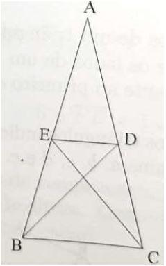 Tem-se AB = AC. Mostre que DE é paralelo a BC se... Captur10