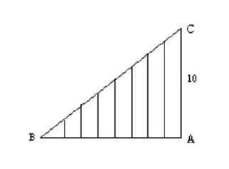 O cateto AB do triângulo retângulo BAC é dividido em oi Captur11