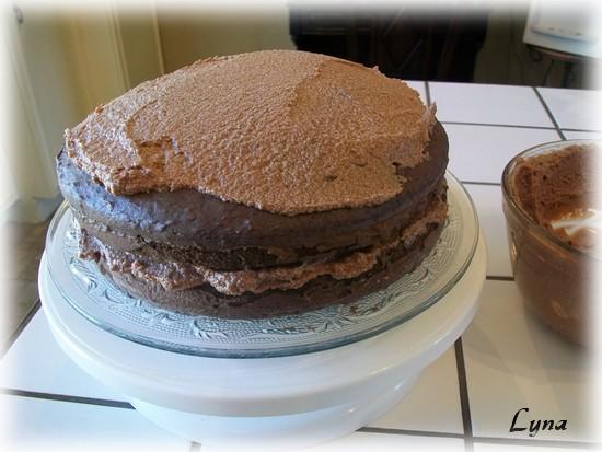 Gâteau au chocolat et glaçage moka Glacag14