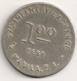 Rare Camp token during the US Occupation Manill10