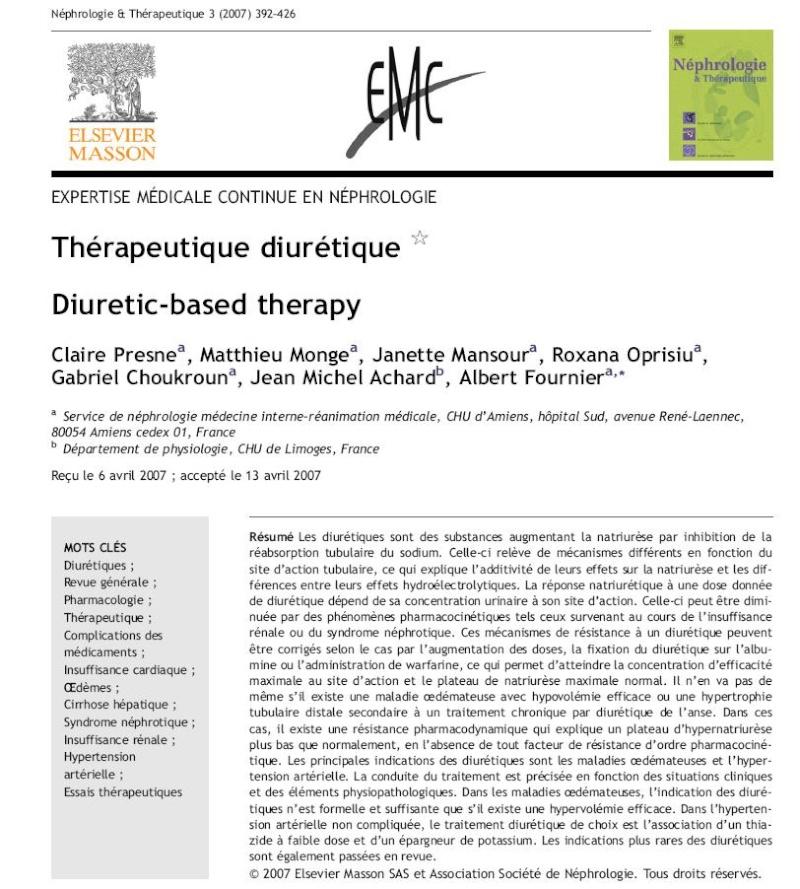 Thérapeutique diurétique Nnnnnn10